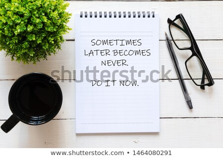 Do It Now. Online Working Concept. Stock photo © tashatuvango