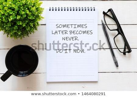 Do It Now. Online Working Concept. Stock photo © tashatuvango