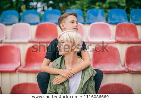 привлекательный · молодым · человеком · мышления · что-то · важный - Сток-фото © feedough