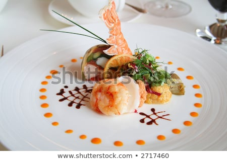 Starter or Entree of a french dish Stock photo © caimacanul