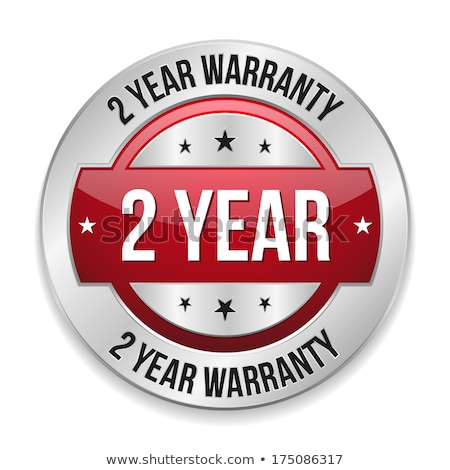 Stock photo: 2 Years Warranty Red Vector Icon Design