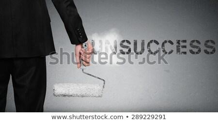 Woord schilderij muur grijs man pak Stockfoto © fuzzbones0