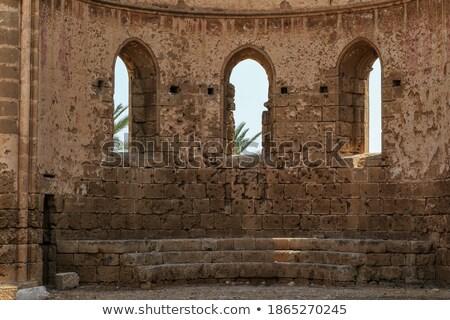 Ruínas medieval ortodoxo igreja Chipre castelo Foto stock © Kirill_M
