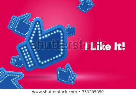 Stok fotoğraf: Sosyal · medya · pembe · vektör · düğme · ikon · dizayn