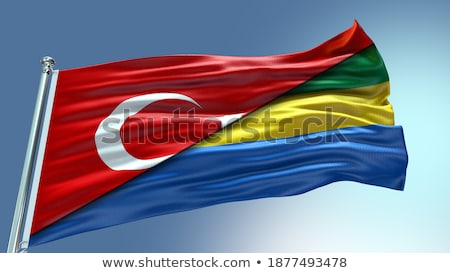 Turkey and Gabon Flags Stock photo © Istanbul2009