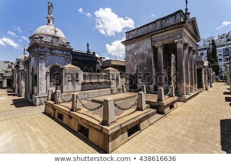 Temető Buenos Aires történelmi épület kereszt angyal Stock fotó © fotoquique