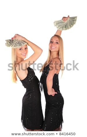 gêmeo · meninas · dólares · negócio · família · casal - foto stock © Paha_L