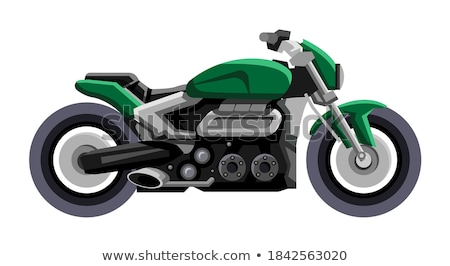 Motor gewoonte fiets brandend Maakt een reservekopie band Stockfoto © fouroaks