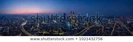 Gece görmek şehir Malezya ticari Stok fotoğraf © dutourdumonde