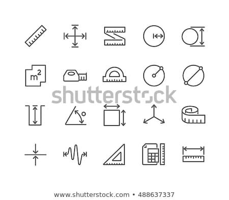Сток-фото: рулетка · линия · икона · уголки · веб · мобильных