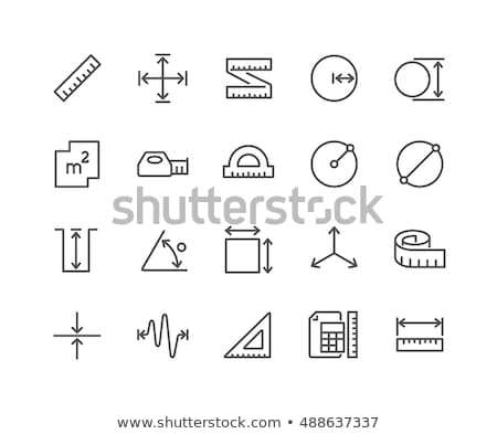 tape measure line icon stock photo © rastudio