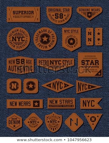 jeans · etiqueta · isolado · branco · textura · moda - foto stock © donatas1205