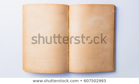 Man reading old book with torn pages Stock photo © stevanovicigor