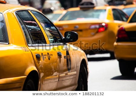 Geel · taxi · abstract · straat - stockfoto © arenacreative