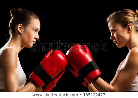 Stok fotoğraf: Iki · çekici · kızlar · kavga · görüntü