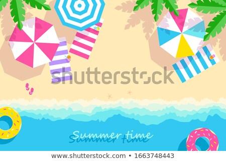 Gyönyörű víz homokos tengerpart vad út tengerpart Stock fotó © morrbyte