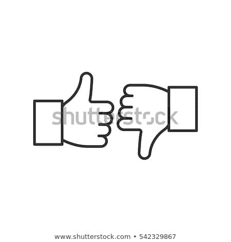 kéz · hüvelykujj · felfelé · ikon · ahogy · izolált - stock fotó © rastudio