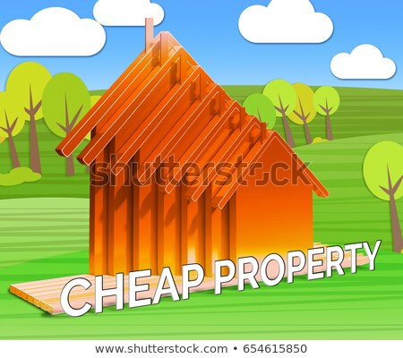 Ev tanıtım evler ucuz kelime konut Stok fotoğraf © stuartmiles