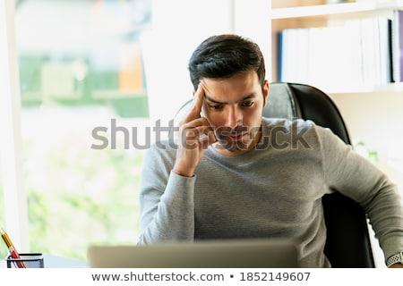 Disperato uomo business albero imprenditore giovani Foto d'archivio © zurijeta
