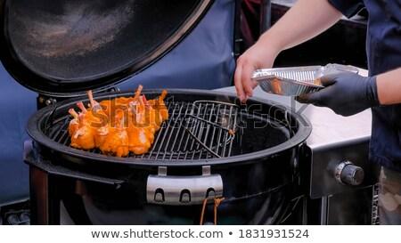 barbecue chicken with curcuma Stock photo © M-studio