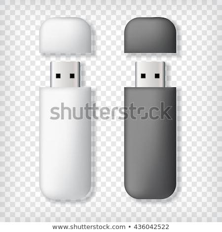 Due usb ricordo bianco nero computer Foto d'archivio © pakete