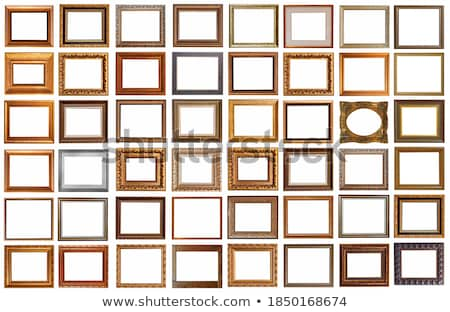 empty old vintage art frame on white background Stock photo © manera