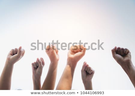 Fists clenched for Together concept Stock photo © stevanovicigor