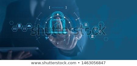 armado · segurança · nuvem · anônimo · dados - foto stock © lightsource