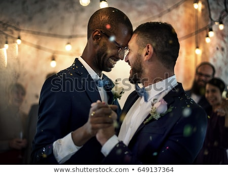 Gay couple mariage Rainbow mariage dessin Photo stock © artisticco