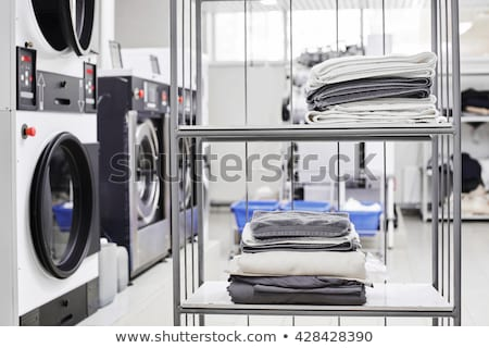 自動 · 洗濯 · 面白い · 実例 · 顔 · サービス - ストックフォト © adrenalina