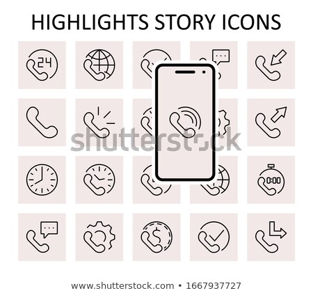 Round-the-clock service icon with highlight Stock photo © Oakozhan