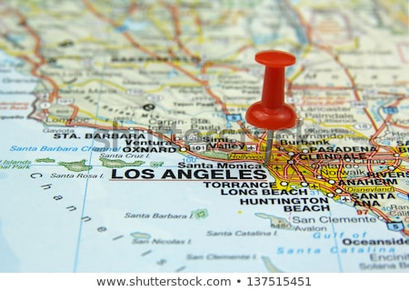 map with pin on los angeles Stock photo © Hofmeester