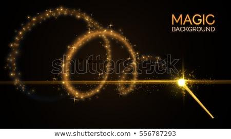 golden magic wand Stock photo © blackmoon979