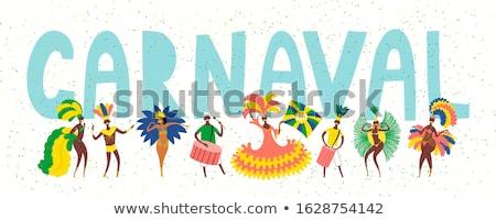 férias · trópicos · ilustração · mulher · árvore · sol - foto stock © robuart