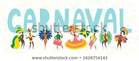 Karnevál táncos karakter vektor terv mosolyog Stock fotó © robuart