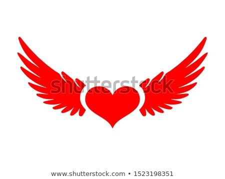 red heart with wings stock photo © blackmoon979