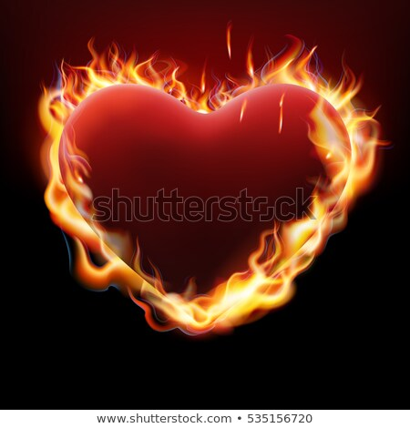 Vlentine s day concept. Heart in flame. EPS 10 Stock photo © beholdereye