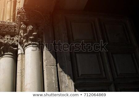 Legno porta chiesa marmo vecchio Foto d'archivio © rglinsky77