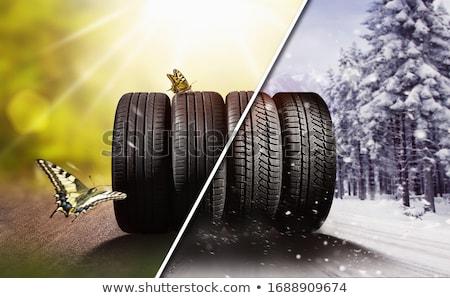 mecánico · destornillador · coche · neumático · servicio · reparación - foto stock © simply
