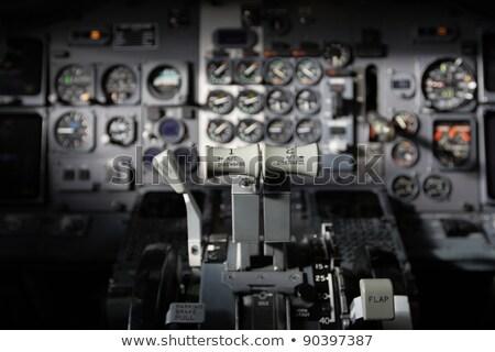 centro · consolá · avião · velho · computador · tecnologia - foto stock © michaklootwijk