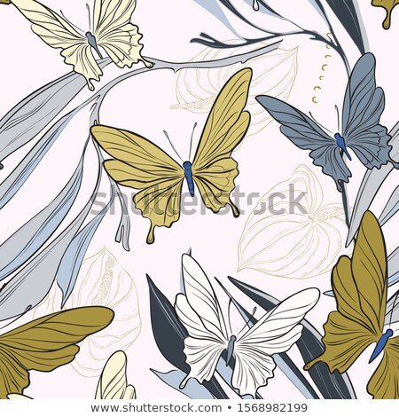 Geometric pattern with monarch butterflies Stock photo © blackmoon979