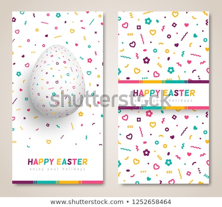 easter 80s style posters stock photo © anna_leni