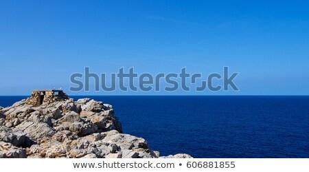 Historisch blauwe hemel buitenshuis noorden west hemel Stockfoto © zhekos