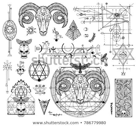 Pentagram Symbol Collection Stock photo © timurock