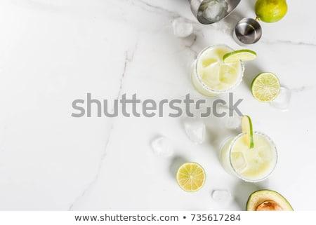 klassiek · cocktail · kalk · plakje · zout · rand - stockfoto © fotoart-md