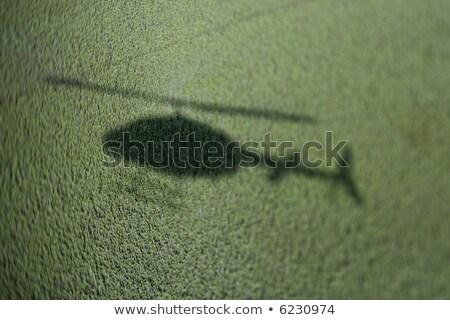 helicopter shadow on marsh stock photo © iofoto