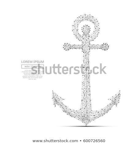white anchor polygon stock photo © blackmoon979
