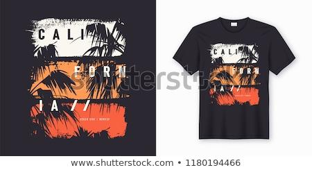 Szörfözik póló grafikai tervezés szörfösök visel bélyeg Stock fotó © Andrei_