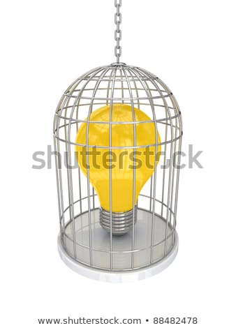 lightbulb cage Stock photo © psychoshadow