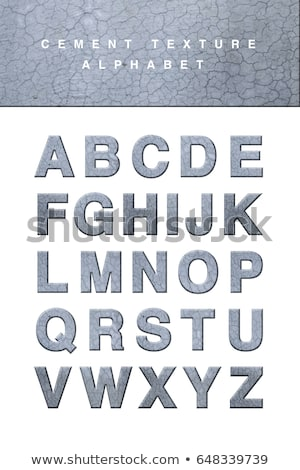 Stock photo: Font design for english alphabets with rock texture
